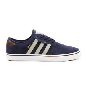 Adidas SEELEY PRO Collegiate Navy Sesame Skate Discounted (231) Men's Shoes