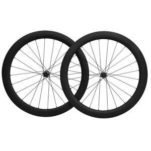 25mm-Clincher-Disc-Brake-Road-Bike-Wheels-50mm-Carbon-Fiber-Wheelset-UD-MATT