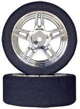 26mm Foam Tires (40 shore) w/Chrome Rims (Set of 2) - 12mm Hex - IMEX #7602