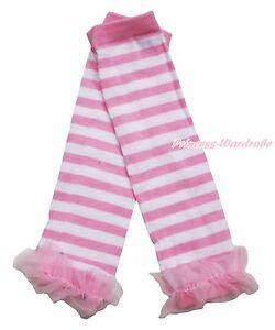 c7e57aff2cd54 Light Pink White Striped Cotton Kids Baby Girls Ruffle Long Leg ...