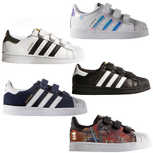 c2057c79dea8a adidas Originals Superstar Baskets enfant en bas âge Velcro ...
