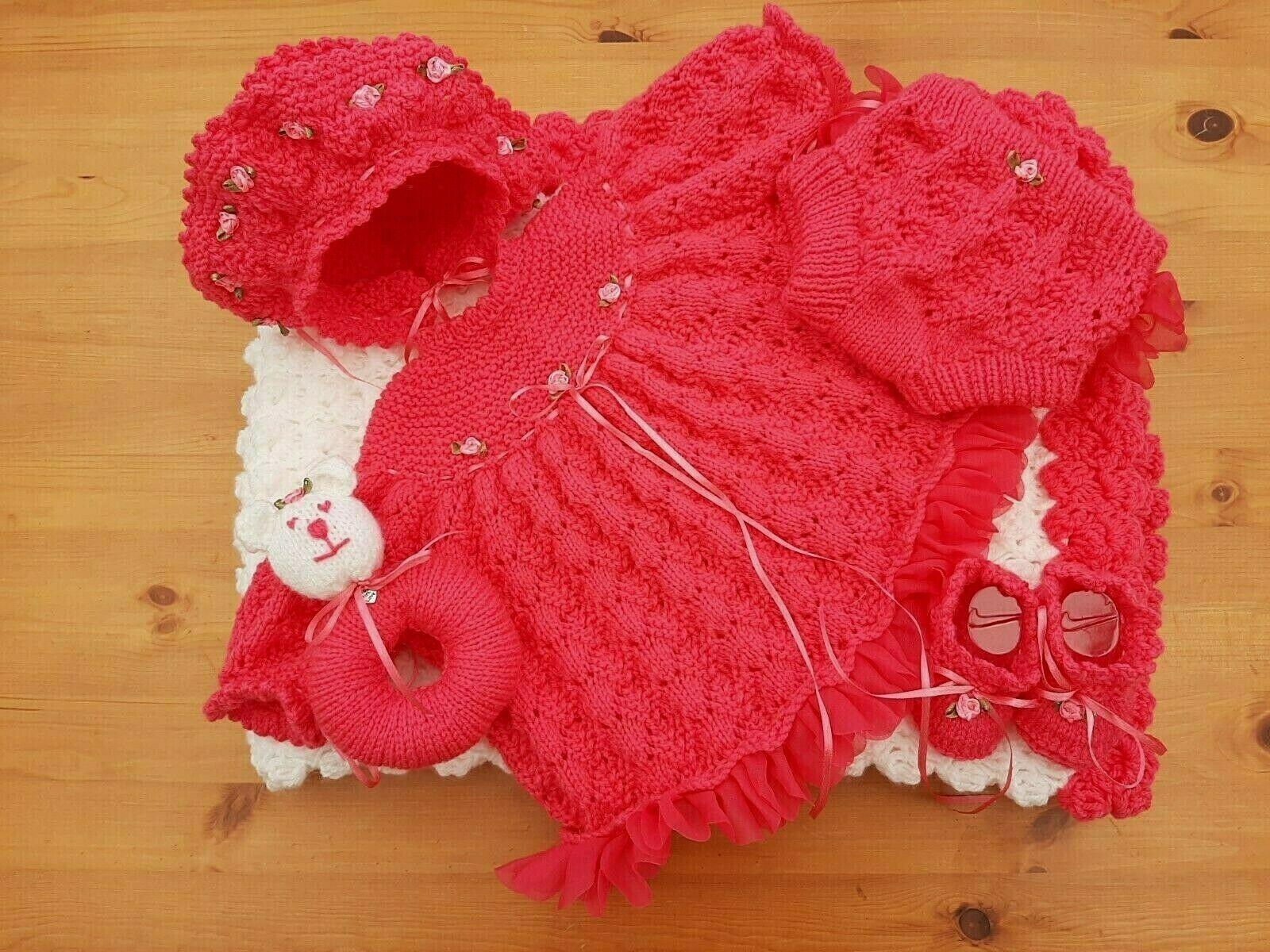 I  neonato  BIMBA BELLISSIMA  Ragazza Layette  Reborn bambola  He Knitted vestiti Set   l'intera rete più bassa