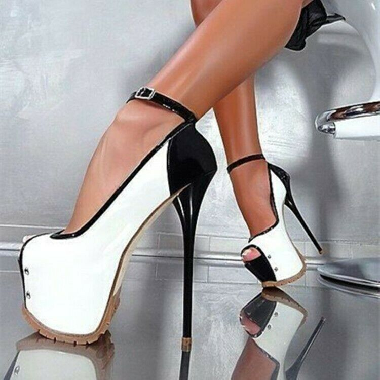 Patent Leather Ankle Strap Peep Toe Sexy Sexy Sexy Womens Peep Toes Stilettos Party shoes 97dc25