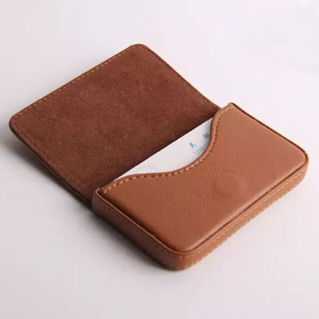 High quality luxury pu leather business name card holder case bag high quality luxury pu leather business name card holder case bag wallet colourmoves