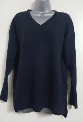 NEW ex OASIS Navy Soft Knitted Long Sleeve Ribbed Jumper Blouse Size S-XXXL