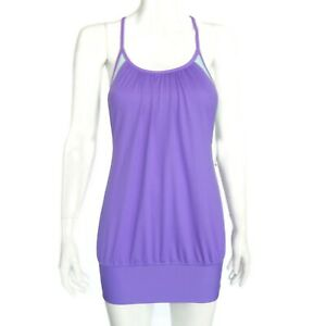 LULULEMON-Tank-Top-Womens-size-4-Layered-Purple-Blue-Bra-No-Limits-NEW-628
