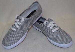 80addff44582 Keds Women s Champion Seersucker Black White Canvas Shoes-Size 6.5 ...