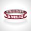 Reversible-Arkansas-Razorbacks-Bracelet-Wristband-Go-Hogs-Bracelet-Woo-Pig-Sooie thumbnail 4