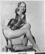 Penny Edwards leggy barefoot VINTAGE Photo