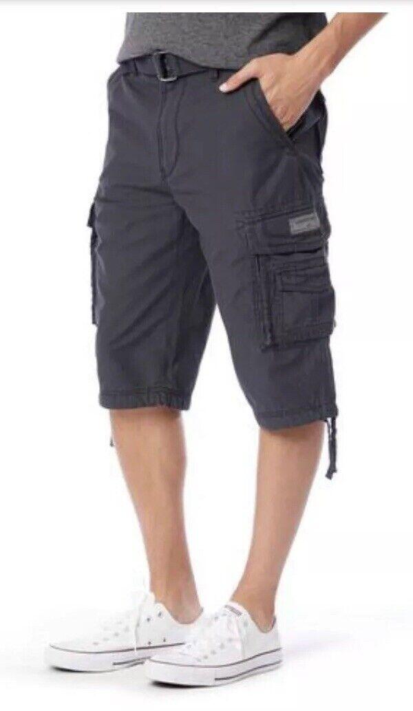 UNIONBAY Cordova Cargo Messenger Ruins+Belts Shorts Men Size 40