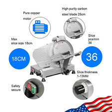 Portable 10 Semi Automatic Meat Slicer Thickness Adjustable Cutter Machine 240w