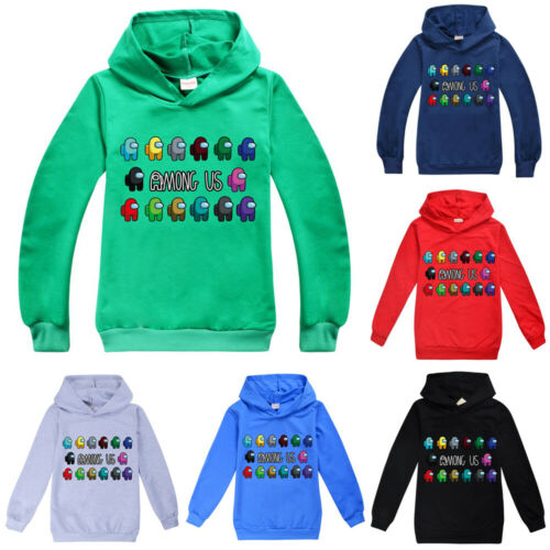 Among Us Impostor Game Kids Boys Girls Hoodies Casual Sweatshirts Jumper Tops