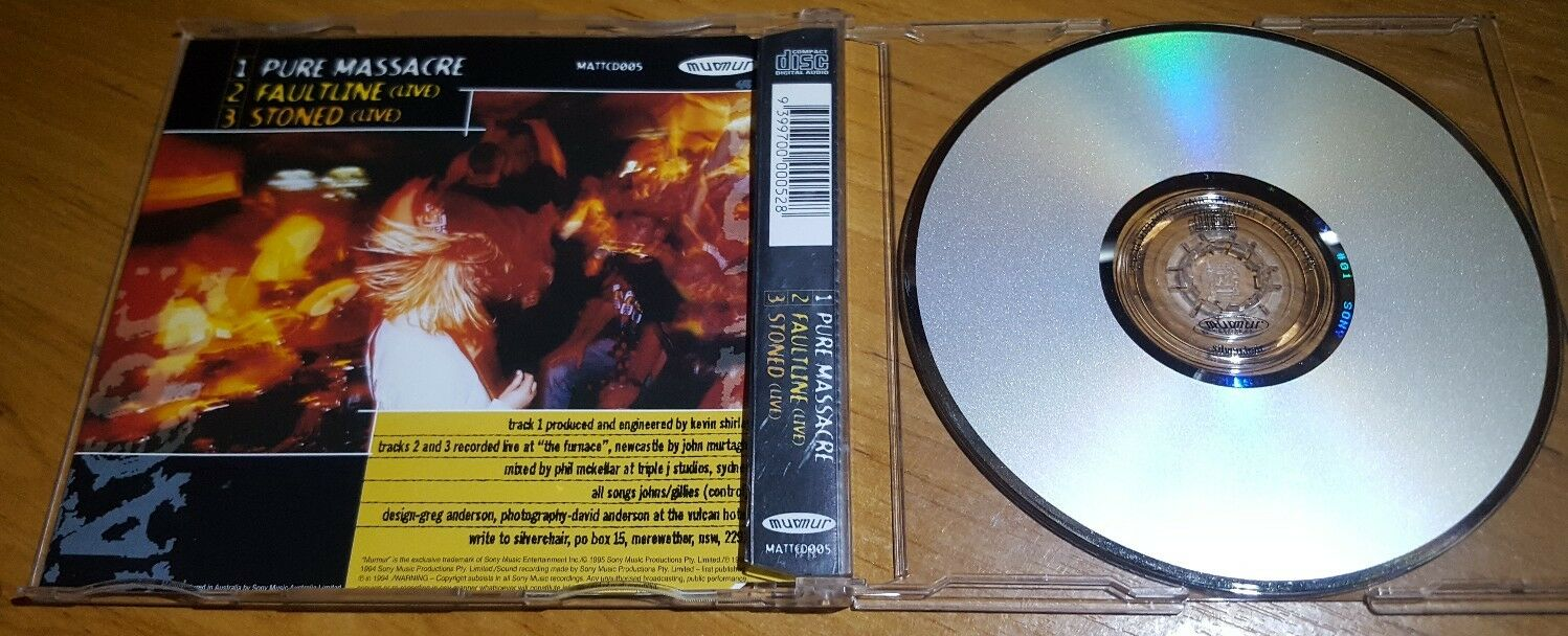 Silverchair Pure Massacre RARE Australian 3 Track CD Single 2 Live Tracks