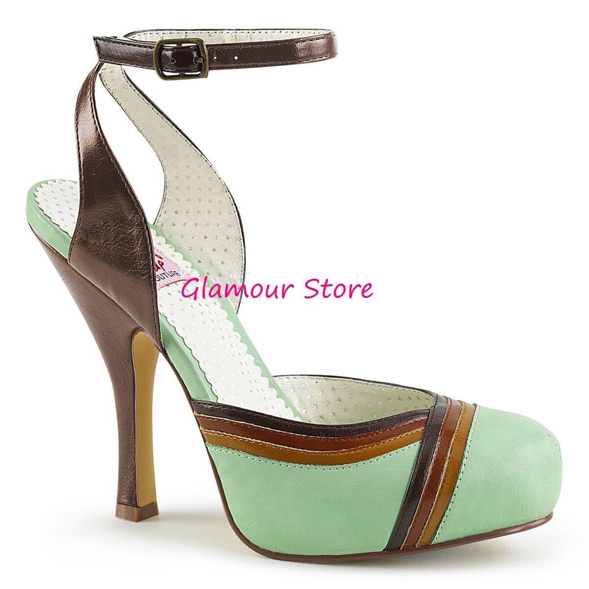 Sexy chaussures PIN UP tacco 11,5 dal 35 al 41 vert MULTICouleurE plateau sandali
