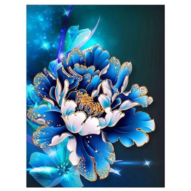 DIY 5D Diamond Embroidery Painting Cross Stitch Kit peony Flower Home Deco: P7D1