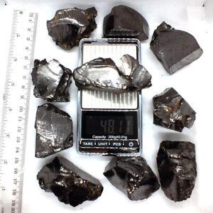 Elite-Shungite-Noble-Water-Stones-C60-EMF-Raw-Rough-Karelia-Bulk-Lot-1-LB-45-50G