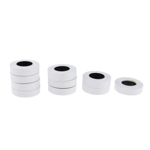 10Rolls 5000Pcs Label Paper for 6600 Price Gun Labeller Sticky Tag Labels