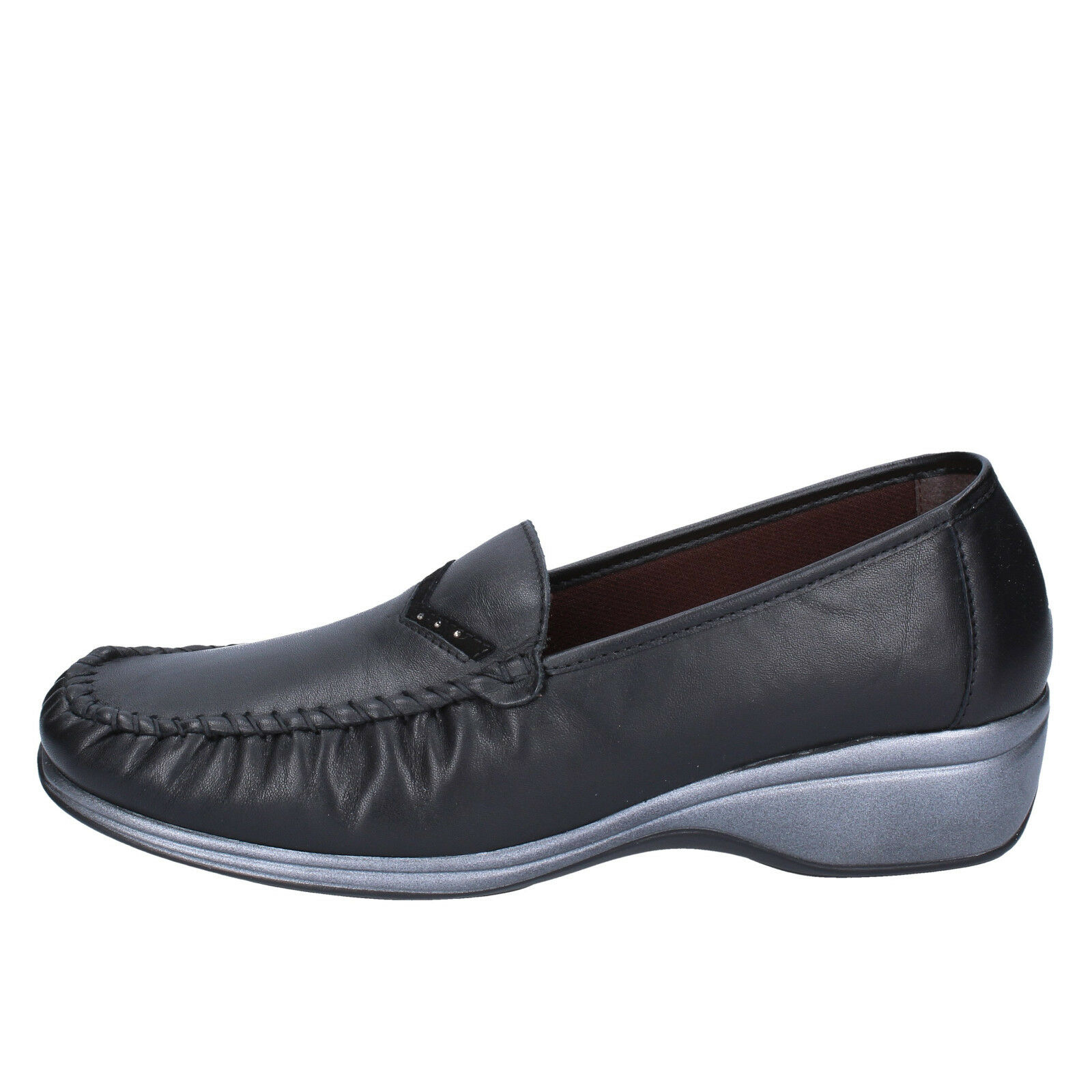 da donna WALKSAN by Susimoda 41 UE SLIP ON NERO PELLE bx556