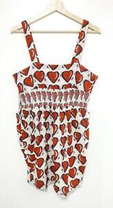 SASS-amp-BIDE-Spirit-Of-Hope-Mini-Dress-cotton-red-heart-print-A-390-EU42-AU12-M