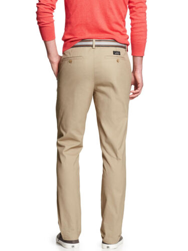 5303-2 Banana Republic Mens Aiden Fit Chino Pants Khaki Beige 33W X 30L $60
