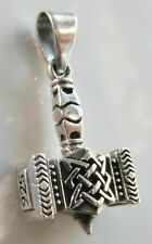 Sterling Silver (925)  Thors  Hammer  Viking  Pendant  (7.2 Grams) !!    New !!