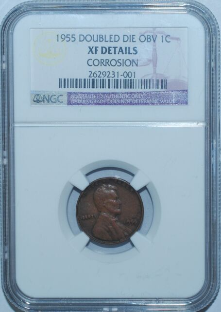 1955 NGC  XF Details Double Die Obverse FS-101 Doubled Die Penny Cent