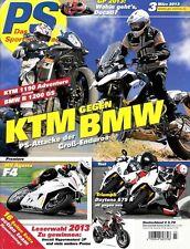 PS1303 + Vergleich KTM 1190 Adventure vs. BMW R 1200 GS (K50) + PS 3/2013