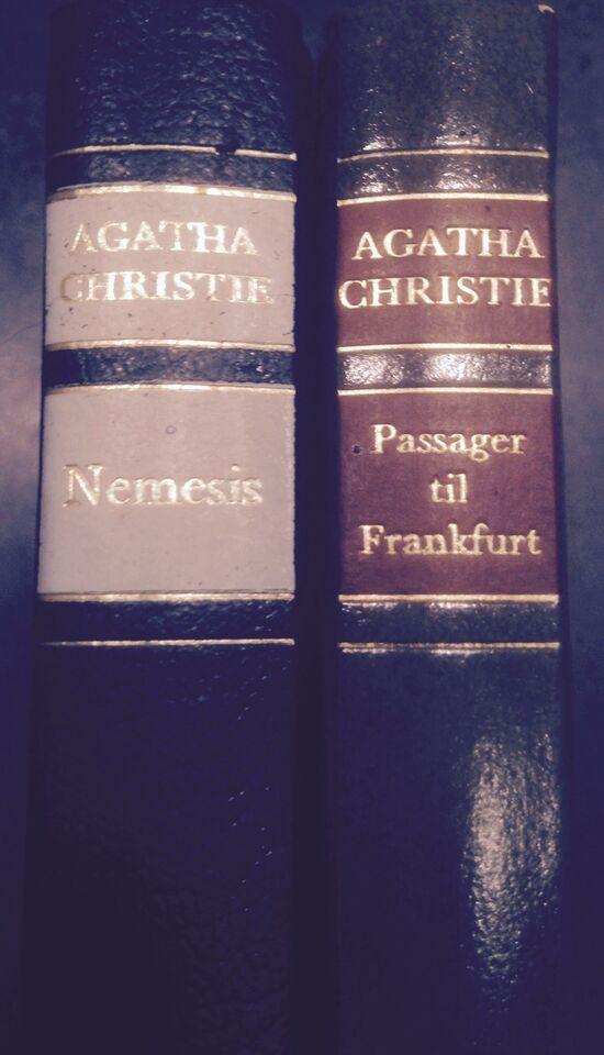 2 bøger, Agatha Christie, genre: krimi og spænding