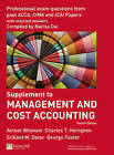 Management and Cost Accounting Professional Questions by George Foster, Charles T. Horngren, Alnoor Bhimani, Srikant M. Datar (Paperback, 2007)