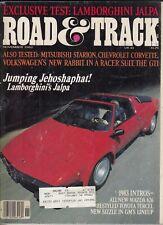 Road Amp Track November 1982 Lamborghini Jalpa Volkswagen Rabbit Gti Mitsubi