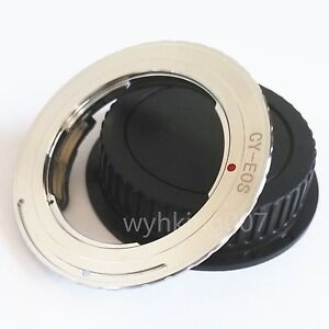 EMF-AF-Confirm-Contax-Yashica-CY-Lens-to-Canon-EOS-EF-Adapter-550d-350d-cap