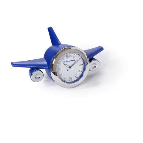 Boeing Airplane Desk Clock Blue
