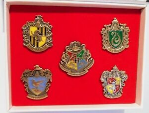 Harry Potter House Crest Logos Boxed Set of (5) Five Metal/Enamel Pins