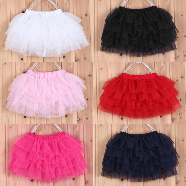 1/7 Colorful Girls Kids Dancewear Tutu Pettiskirt Dress Princess Bouffant Skirt