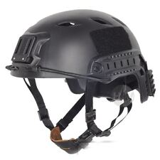 AIRSOFT BLACK SWAT OPS TACTICAL HELMET JUMP UK FAST DELIVERY RAIL