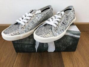 low priced 433a0 fdc16 Details zu Pepe Jeans Sneaker Silber Glitzer Party Aberlady Größe 40 Frauen
