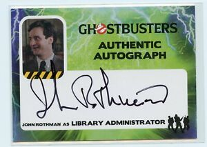 Cryptozoic Ghostbusters Trading Cards John Rothman as Administrator Autograph