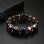 thumbnail 5 - Double Hematite Tiger's Eye Natural Bracelets Men Women Charm Bracelets Jewelry