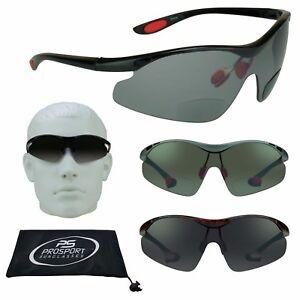 f377d330c568 Image is loading DARK-TINTED-Sport-BIFOCAL-Sunglasses-Sun-Readers-Wrap-