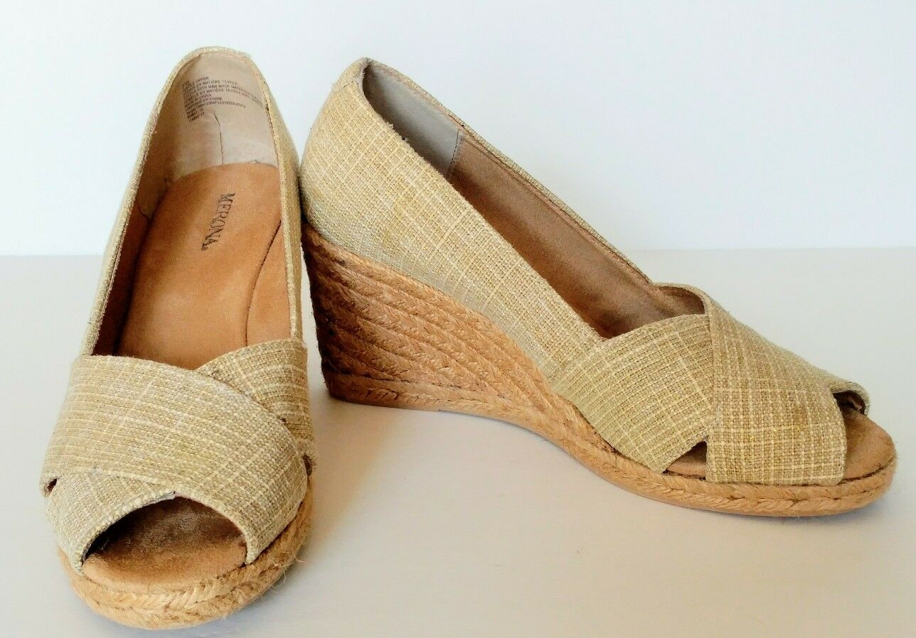 High Heel Wedge Sandals 7.5 Beige Cute Stylish Shoes Casual Peep Toes Women's Shoes Stylish 429c6f