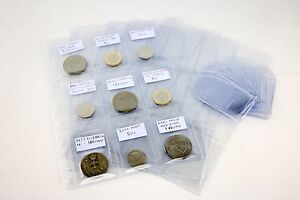 Coindex Clear Plastic Coin Wallets With Labels 9 Pocket Storage Album Pages