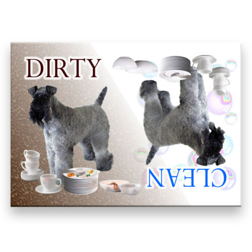 Dirty DISHWASHER MAGNET Dog KERRY BLUE TERRIER Clean