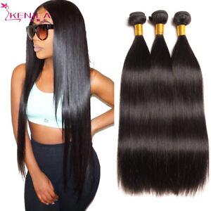 Virgin-Straight-Remy-Human-Hair-Extensions-Brazilian-Hair-Weave-3Bundless-150g