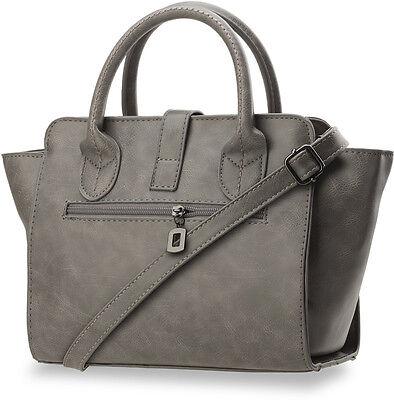Damentasche Bowlingbag Handtasche Schultertasche Aktentasche mit Anhänger klein!