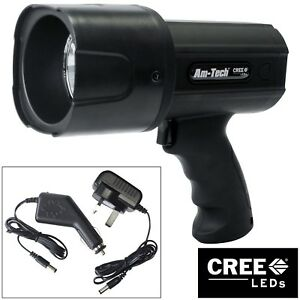 12W-RECHARGEABLE-CREE-LED-SPOTLIGHT-TORCH-LI-ION-BATTERY-720-LUMEN-10-YEAR-WARR