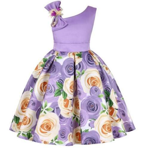 Baby girl kid formal tutu dresses wedding princess dress flower bridesmaid party