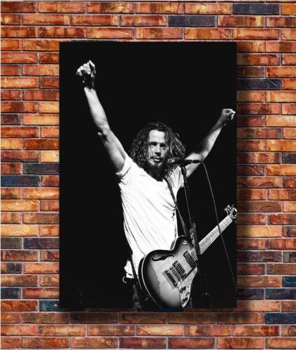 T2749 36 Silk Poster Chris Cornell Soundgarden Custom Black And White Art Print