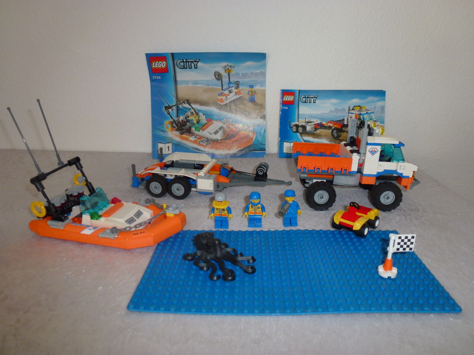 Lego City  7726 Blatt 1 + 2 + OBA + Autos uvm.  Rarität   (46)