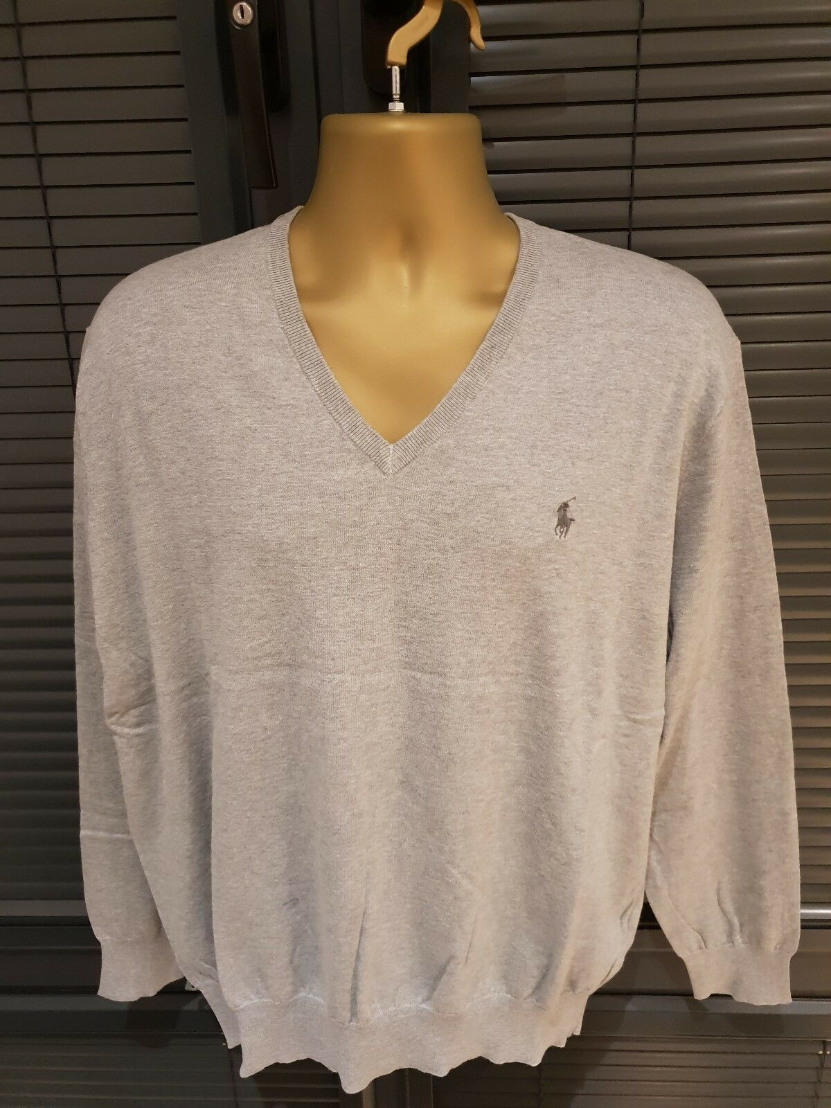 Polo Ralph Lauren Mens Unique Quality Jumper Top Grey 1XB ONLY   WOW GENUINE