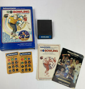 PBA-Bowling-Intellivision-Complete-Game-w-Game-Box-Manual-amp-Keypad-Covers